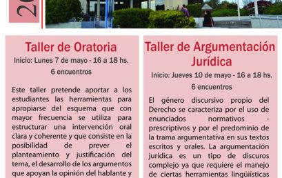 Inscripción a Talleres de Oratoria y Argumentación Jurídica