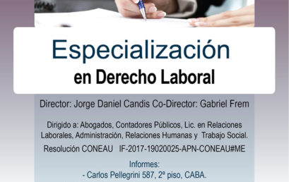 Especialización en Derecho Laboral