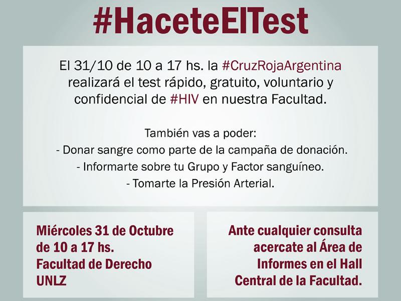 Campaña #HaceteElTest para prevenir el HIV