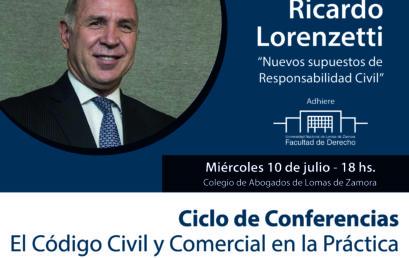 El Dr. Ricardo Lorenzetti expondrá en el CALZ
