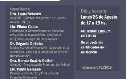Conferencia Nuevas Perspectivas en Derecho Animal: Un Abordaje Multidisciplinario