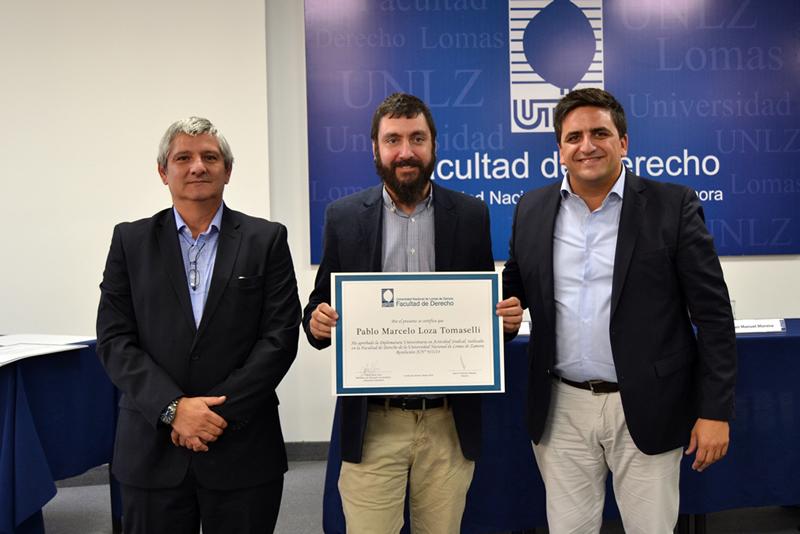 Entrega de certificados de la Diplomatura en Actividad Sindical
