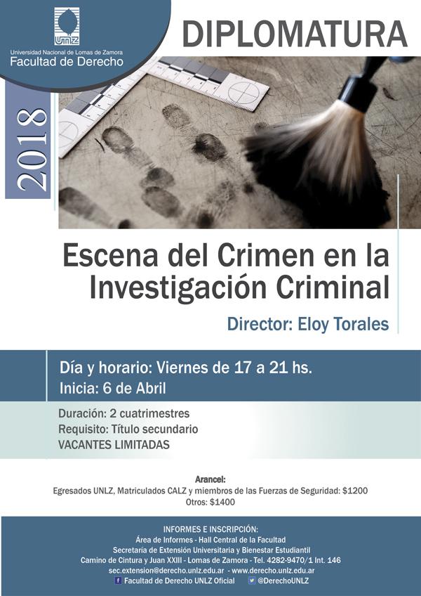 Diplomatura: Escena del Crimen en la Investigación Criminal