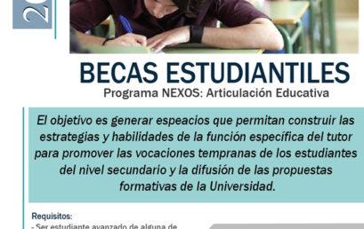 Convocatoria a Becas para el Programa Nexos: articulación educativa
