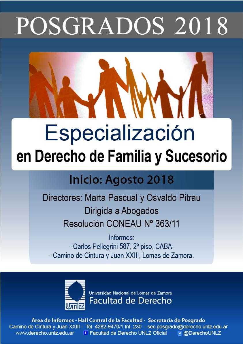 Especialización en Derecho de Familia y Sucesorio