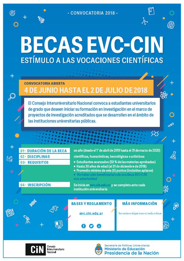 Convocatoria a las Becas EVC – CIN