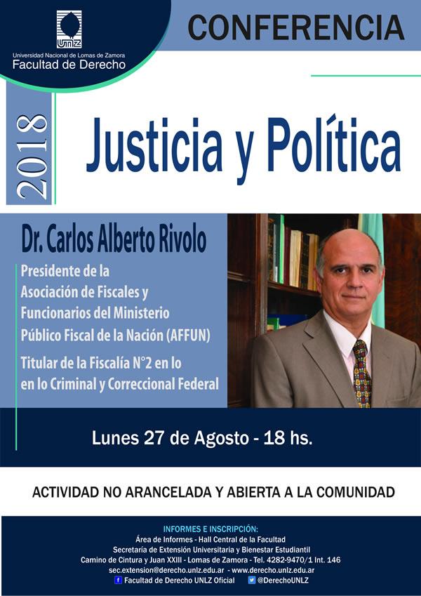 """Conferencia: """"Justicia y Política"""""""