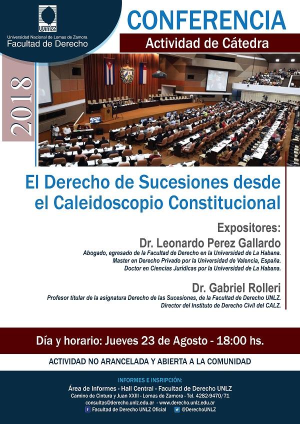 """Conferencia """"El Derecho de Sucesiones desde el Caleidoscopio Constitucional"""""""