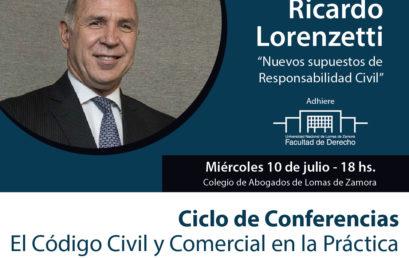 Ricardo Lorenzetti expondrá en el CALZ
