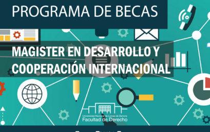 Programa de Becas para cursar el Magister en Desarrollo y Cooperación internacional