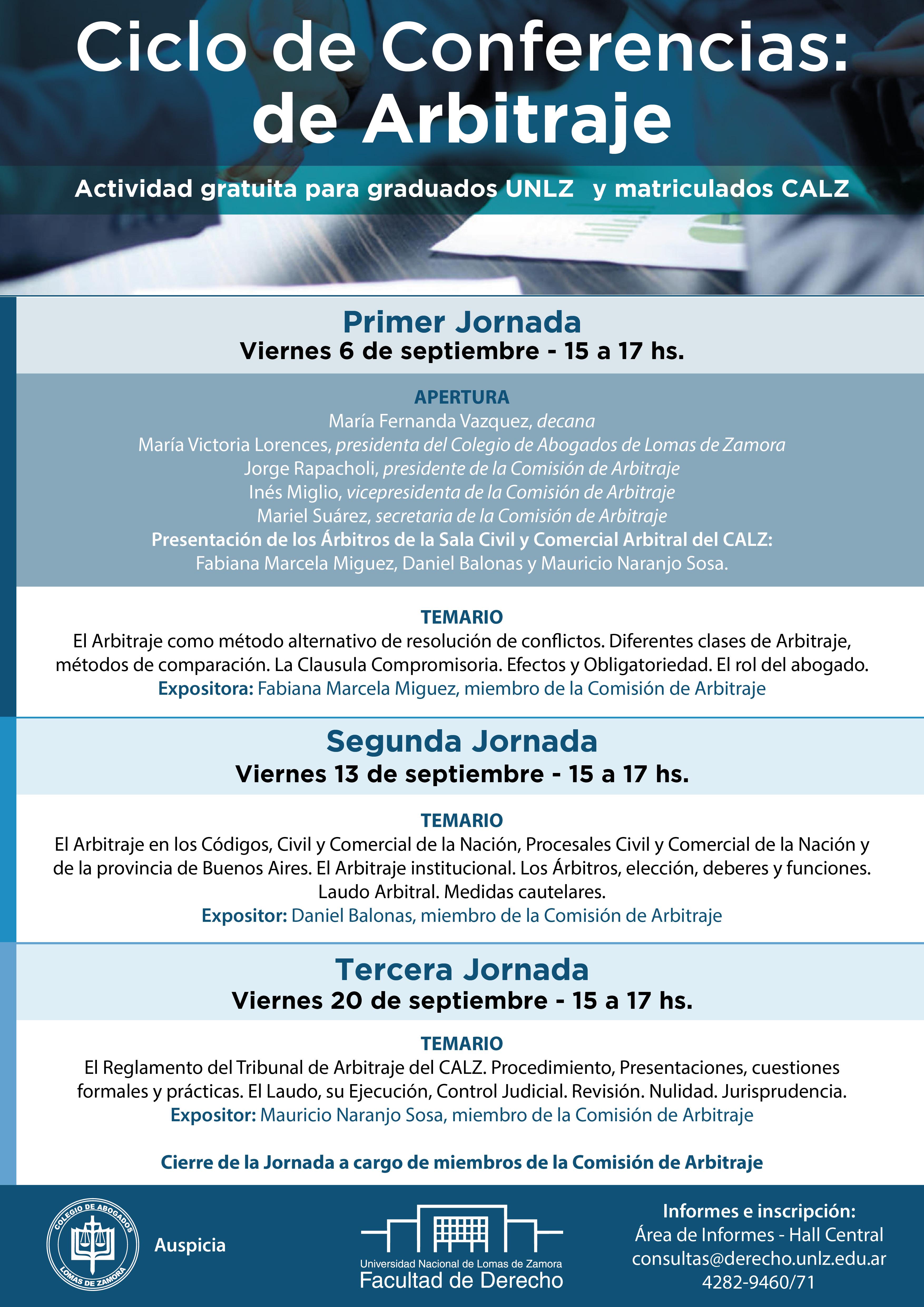 Ciclo de Conferencias: Arbitraje