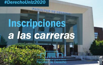 Inscripciones a las carreras de la Facultad 2020
