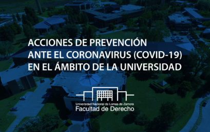 Acciones de Prevención ante el Coronavirus ( COVID-19) en el ámbito de la Universidad