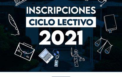 Inscripciones al Ciclo Lectivo 2021